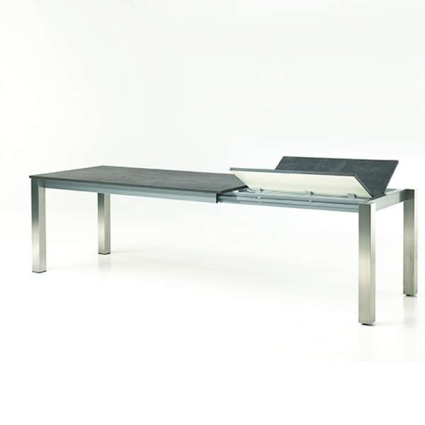 Table contemporaine extensible en mélaminé et métal - Costa 2 - 2