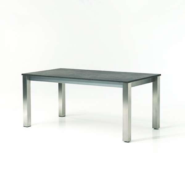 Table de cuisine extensible en mélaminé et métal - Costa - 1