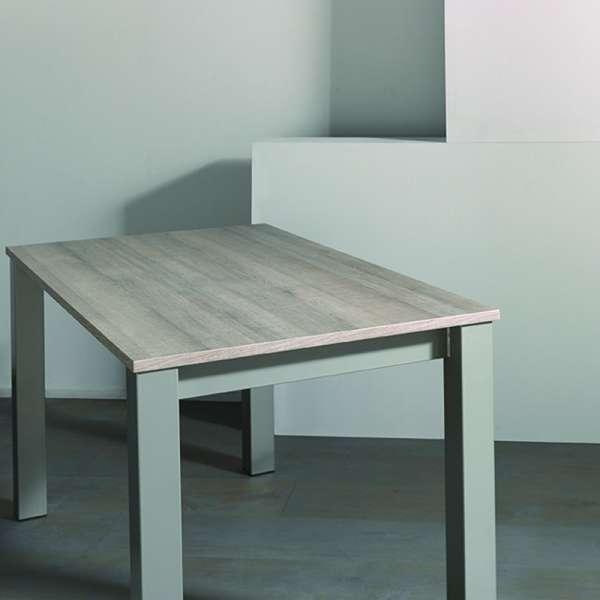 Table de cuisine extensible en mélaminé et métal - Costa 3 - 4