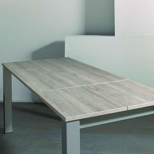 Table extensible en mélaminé et métal - Costa 3 - 8