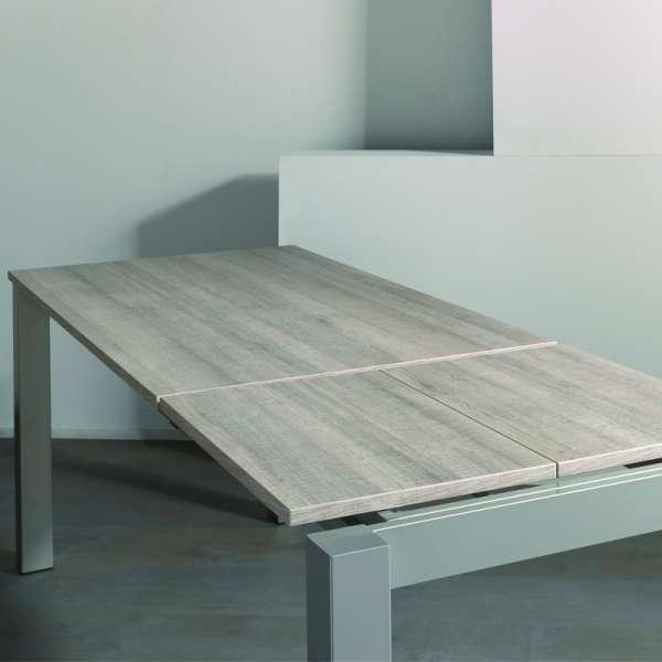 Table de cuisine avec allonge en mélaminé et métal - Costa 3 - 7