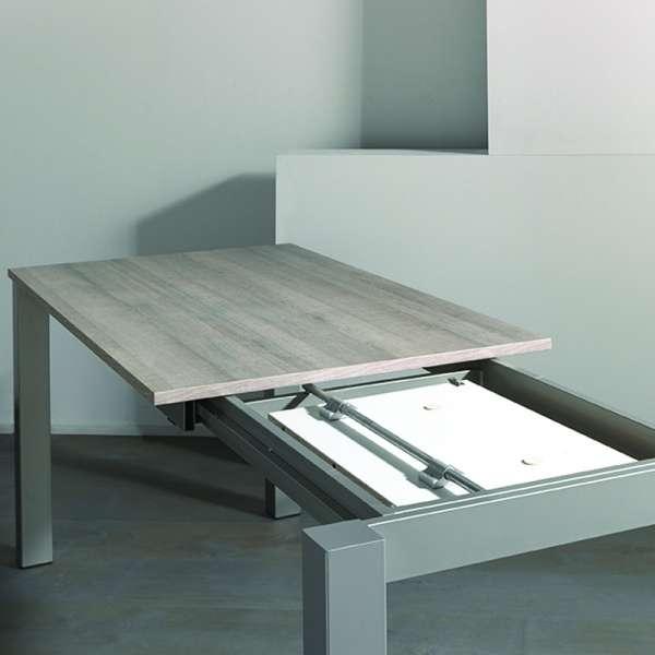 Table avec allonge en mélaminé et métal - Costa 3 - 5