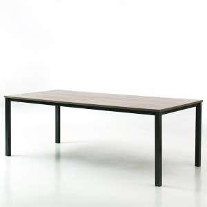 Table contemporaine en mélaminé et métal - Xander
