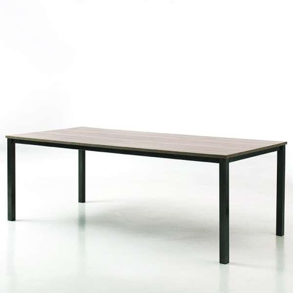 Table contemporaine en mélaminé et métal - Xander - 1