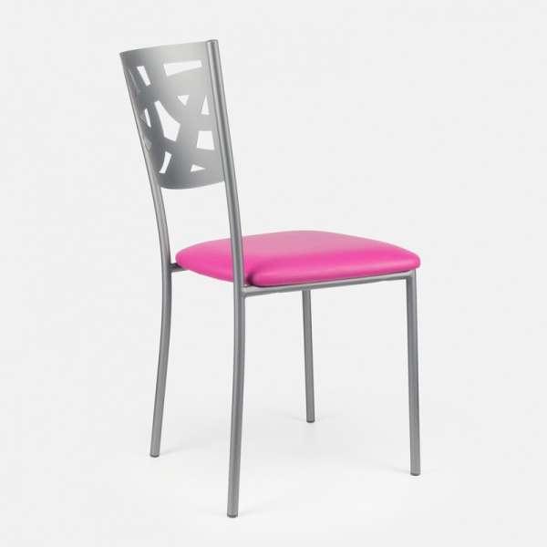 Chaise contemporaine en métal et vinyle - Claudie 9 - 9