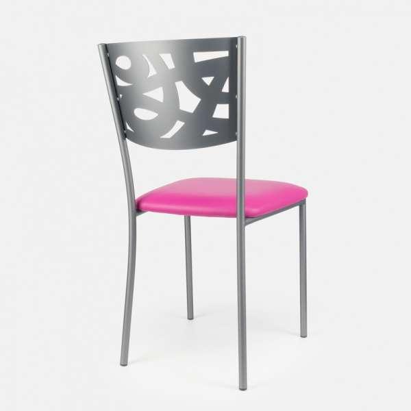 Chaise contemporaine en métal et vinyle - Claudie 8 - 8