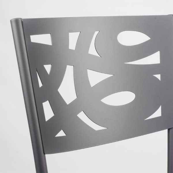 Chaise contemporaine en métal et vinyle - Claudie 11 - 11