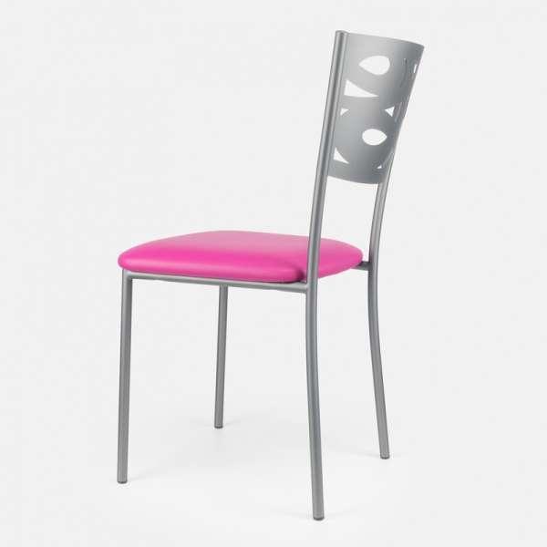 Chaise contemporaine en métal et vinyle - Claudie 5 - 5