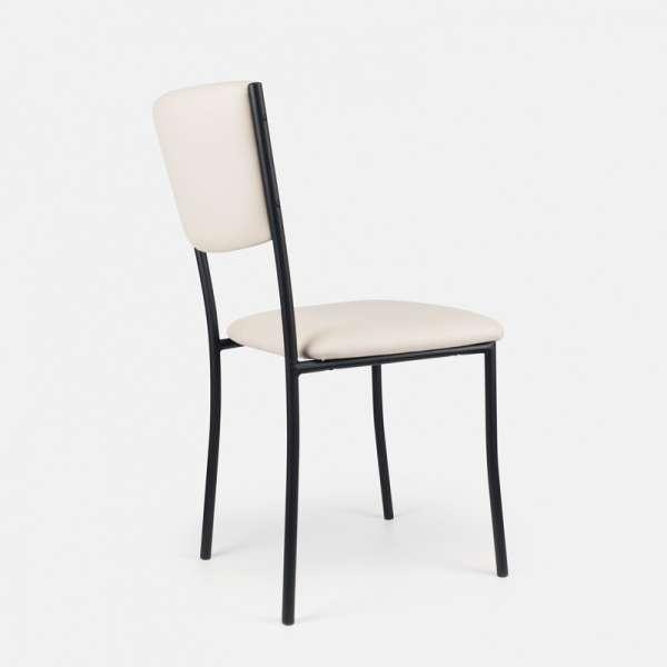 Chaise de cuisine en métal et vinyl - Ruby 6 - 7