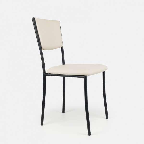 Chaise de cuisine en métal et vinyl - Ruby 4 - 5