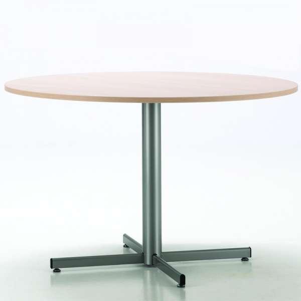 Table de cuisine ronde en mélaminé et métal - Voyager - 1
