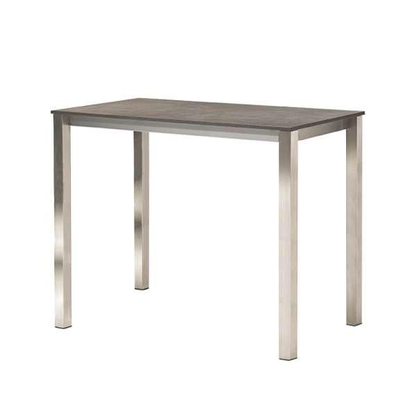 Table mange debout rectangulaire en mélaminé et métal - Costa
