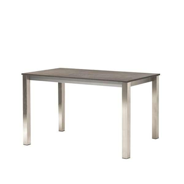 Table snack rectangulaire de cuisine en mélaminé et métal - Costa - 1
