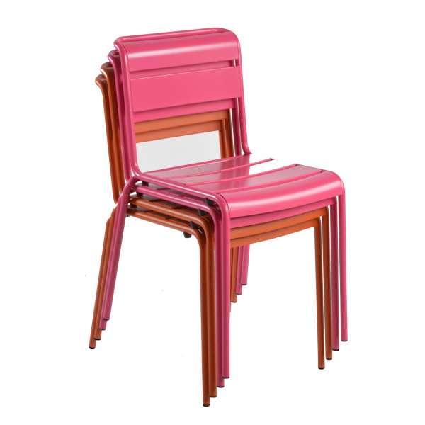 Chaise de jardin vintage empilable en métal - Lutetia 5 - 22
