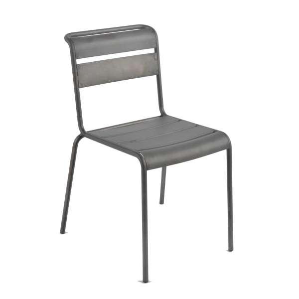 Chaise industrielle en métal vernis mat - Lutetia - 2
