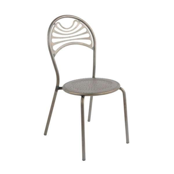 Chaise style industriel en métal mat - Cabaret - 2