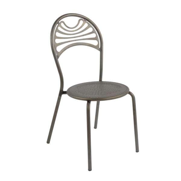 Chaise style industriel en métal fumé - Cabaret - 3