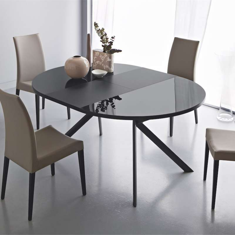 Table Ronde Design Extensible.Table Ronde Extensible En Verre Giove