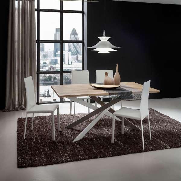 Table contemporaine extensible en stratifié - Renzo - 2