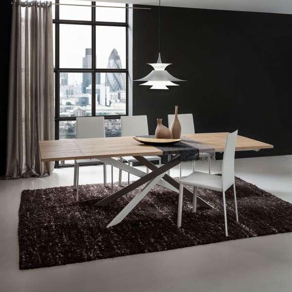 Table de salle à manger design extensible en stratifié - Renzo