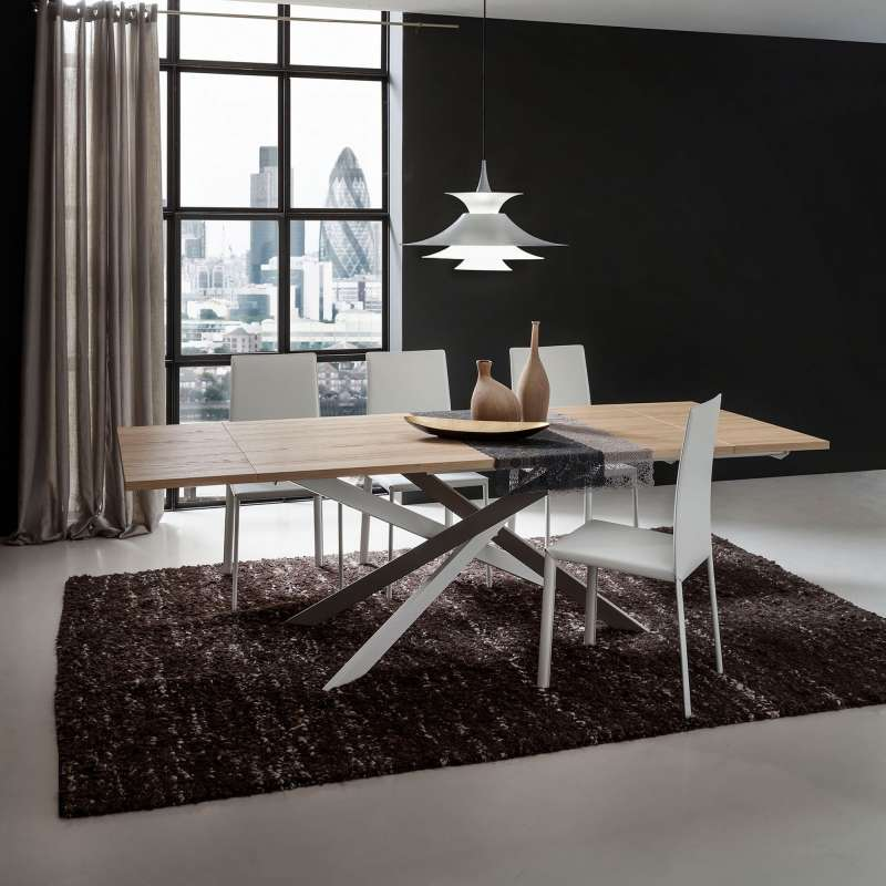Table De Salle A Manger Design Extensible En Stratifie Renzo