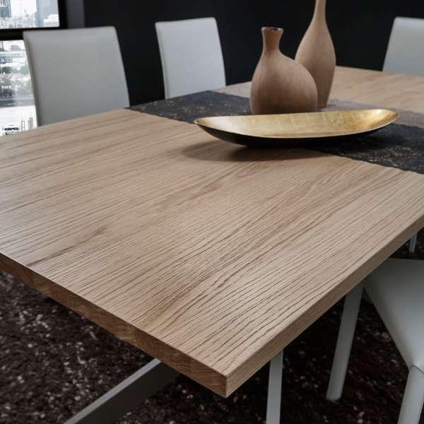 Table contemporaine extensible en stratifié - Renzo 5 - 5