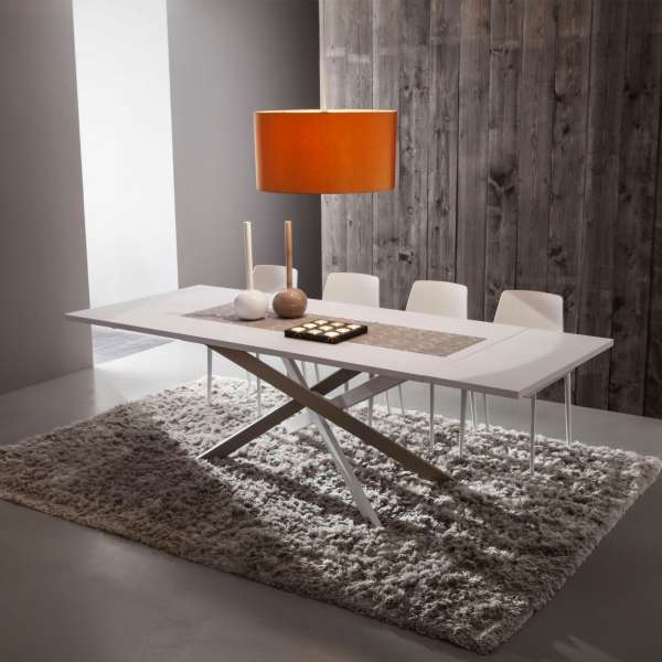 Table contemporaine extensible en fenix - Renzo - 1