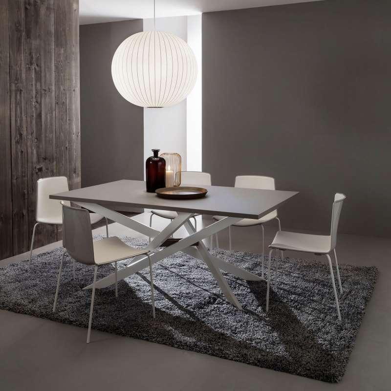 Table de salle manger design extensible en fenix renzo - Treteaux pour table salle manger ...