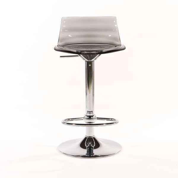 Tabouret réglable design en technopolymère vert transparent et métal - 1477 10 - 10