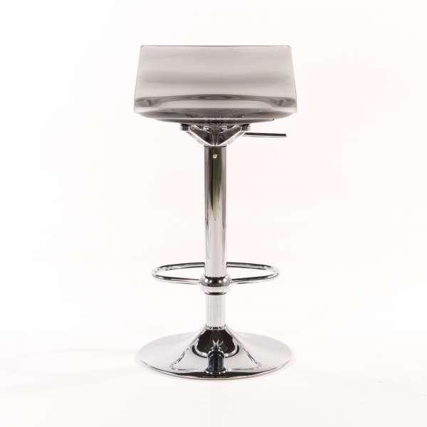 Tabouret réglable design en technopolymère vert transparent et métal - 1477 11 - 11