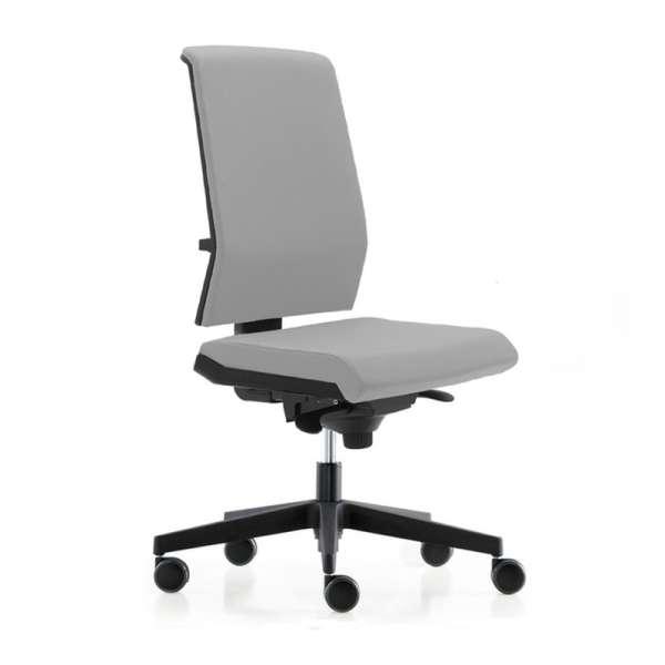 Chaise de bureau avec dossier tapissé sur roulettes - Tela