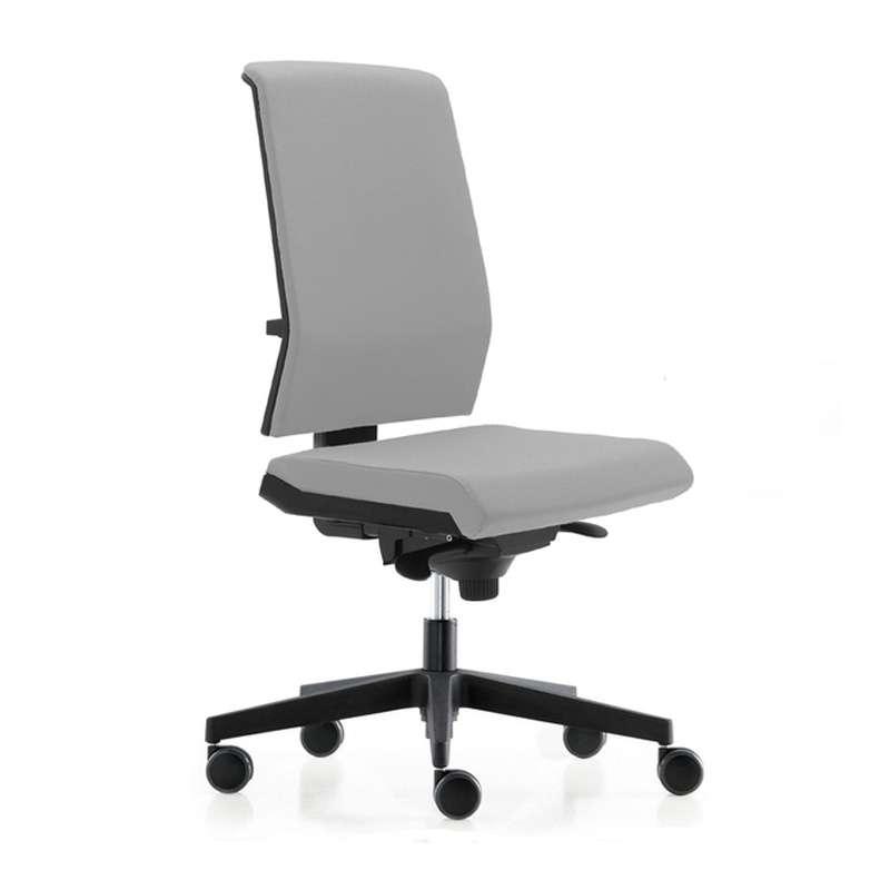 Chaise de bureau avec dossier tapiss sur roulettes tela - Chaise de bureau avec accoudoir ...