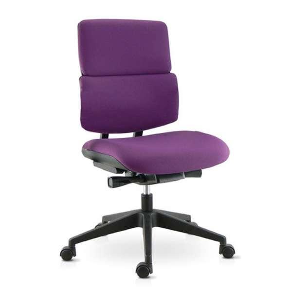 Chaise de bureau en tissu avec roulettes - Wi-max - 1