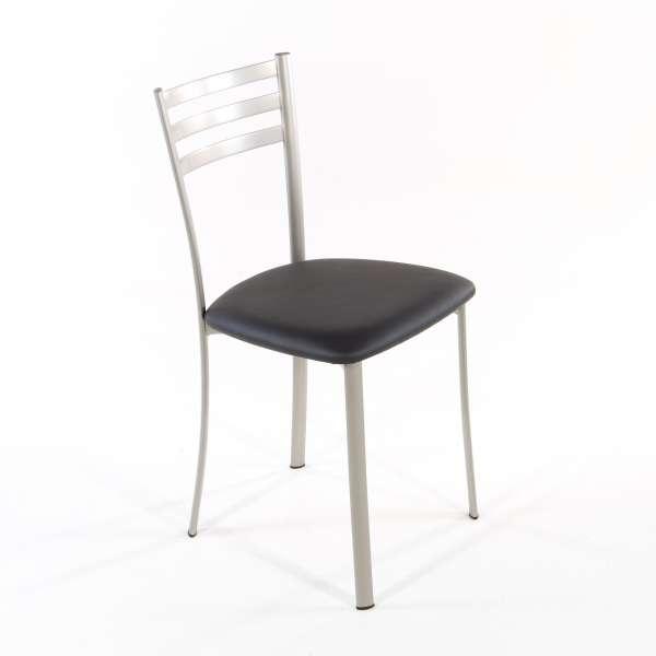 Chaise de cuisine en métal satiné assise anthracite - Ace 1320 - 2