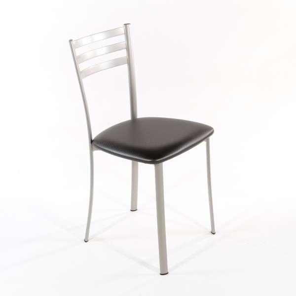 Chaise de cuisine en métal satiné assise carbon look - Ace 1320 - 3