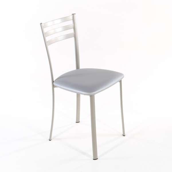 Chaise de cuisine en métal satiné assise alu - Ace 1320 - 4