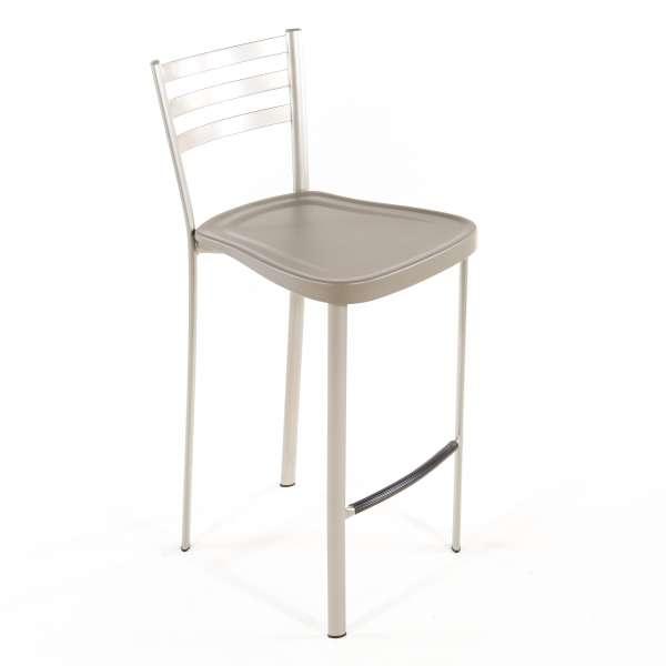 Tabouret snack en métal avec assise polypropylène - 1329 6 - 5