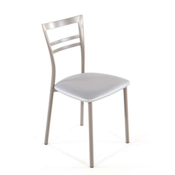 Chaise de cuisine en synthétique et métal - Go 1419 27 - 42