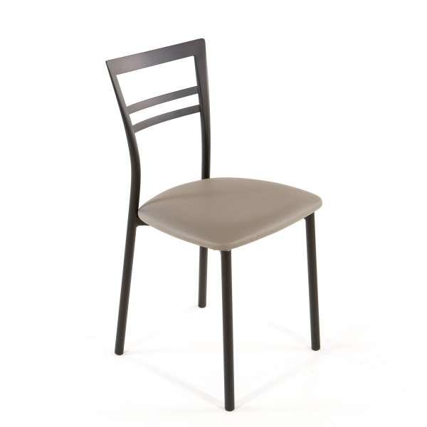 Chaise de cuisine en synthétique et métal - Go 1419 40 - 53