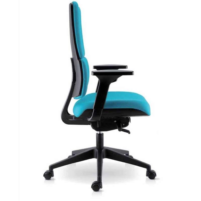 Chaise de bureau en tissu avec roulettes wi max 4 - Chaise de bureau avec accoudoir ...