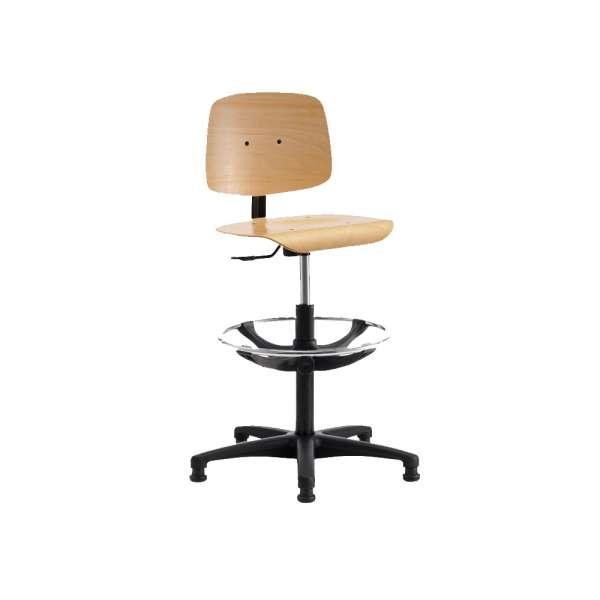 Chaise d'atelier réglable en bois - Tecnik - 2