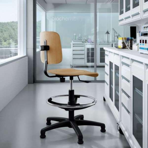Chaise d'atelier réglable en bois - Tecnik 2 - 1