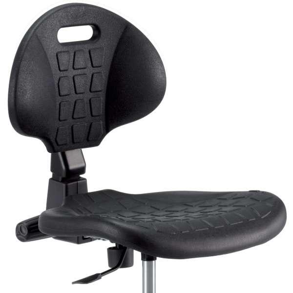Chaise d'atelier avec repose-pieds sur patins - Tecnik 2 - 2