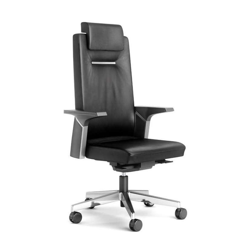 fauteuil de direction en cuir avec roulettes k01 4
