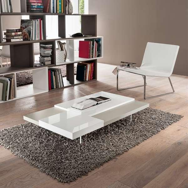 Table basse bicolore en mélaminé - Erica 5 - 2