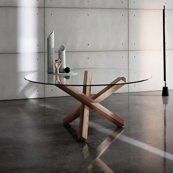 Table en verre design ronde - Aikido Sovet® - 1