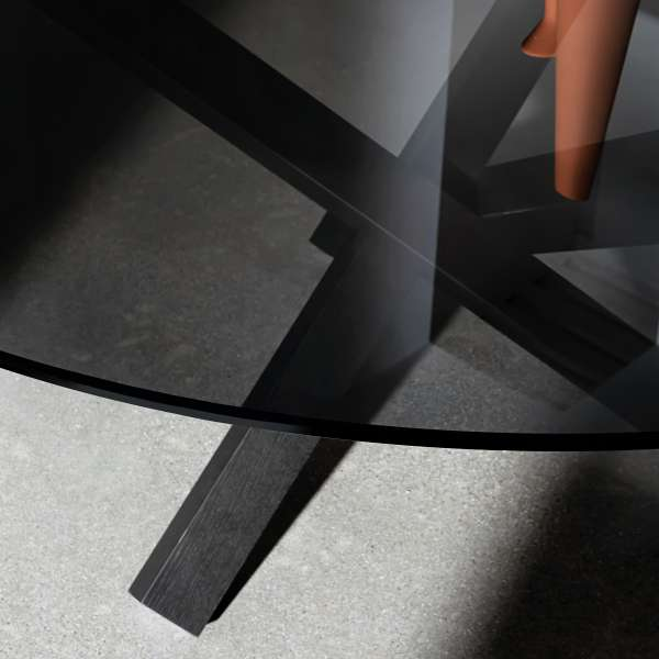 Table en verre design ronde - Aikido Sovet® 9 - 4