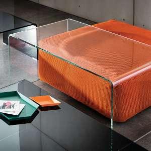 Table basse moderne rectangulaire en verre - Bridge Sovet®
