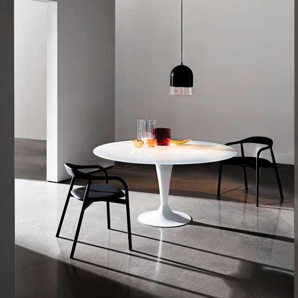 Table ronde design en verre -  Flute Sovet® - 1
