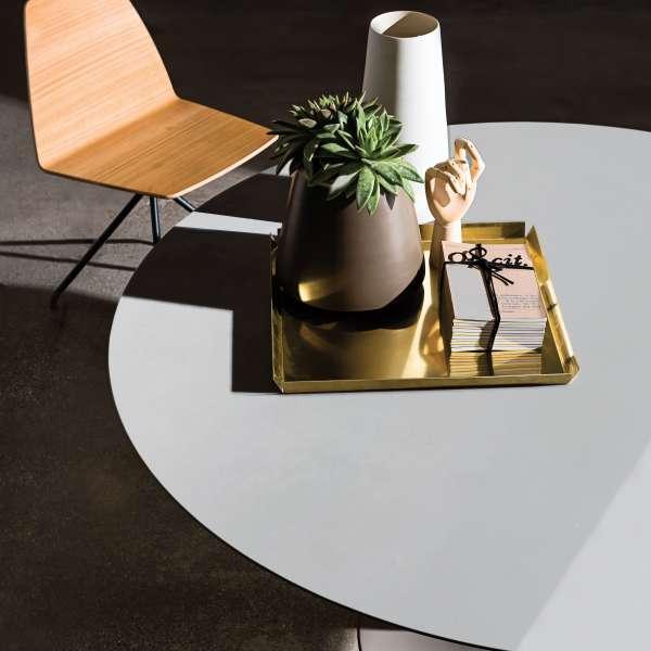 Table ronde design en verre -  Flute Sovet® 2 - 2